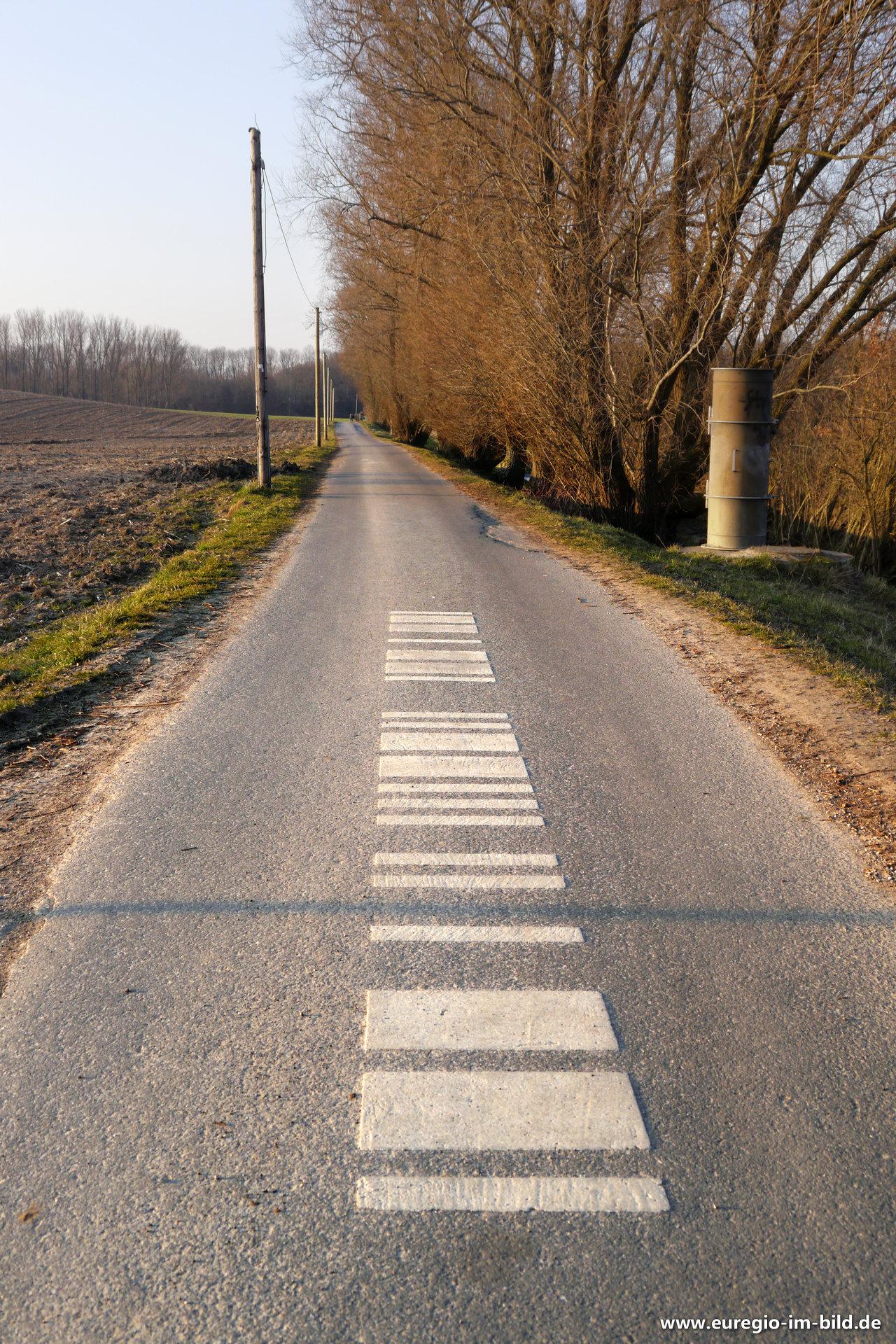 Morsezeichen Als Wegmarkierung Auf Dem Wei En Weg Bei