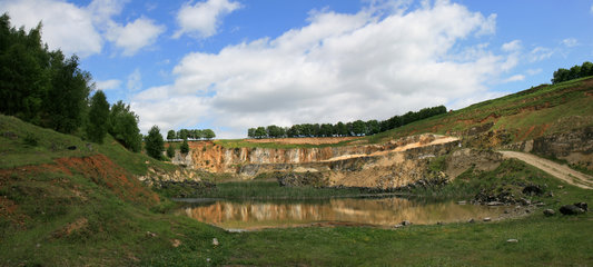 Die Mergelgrube ´t Rooth in Südlimburg, Panoramafoto