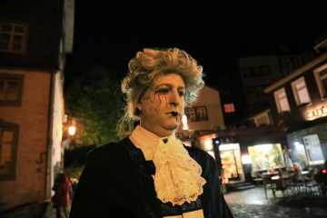 Gespenster an Halloween in Monschau